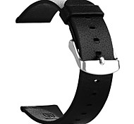 T-38 Replacement Classic Leather Watch Band for APPLE WATCH 38mm Smart Watch - Black