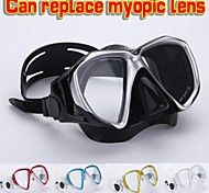 Professional Scuba Diving Fog-proof Mask Underwater Snorkeling Spearfishing Myopic Optical Lens Swimming Goggles