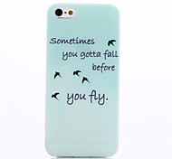 Be Free You Fiy Pattern TPU Soft Cover for iPhone 5/5S