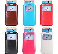 Teléfono Móvil Samsung - Bolsas - Diseño Especial - para Samsung S5 i9600/Samsung Galaxy S6 ( Negro/Blanco/Rojo/Azul/Marrón/Rosado ,
