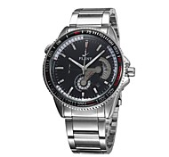 Men's Adjustable Bezel Military Watch Automatic Self Wind Analog Calendar/Chronograph/Water Resistant/Hollow Engraving