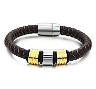 Z&X®  Men's Fashion Joker Boys Love Brown Bracelet