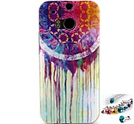 White water Pattern TPU Back Cover Case and Dust Plug for HTC One(M8)