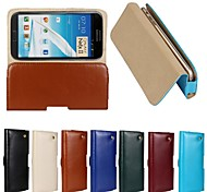 New Genuine Belt Clip Pouch Crazy Horse Leather Phone Case Cover for Samsung Galaxy Note 2(Assorted Colors)