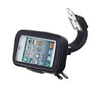 M08 Motorcycle Bicycle Water Resistant Holder / Stand for GPS / Cell Phone (Black)