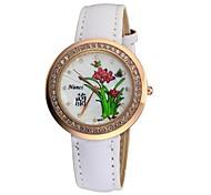 Relógio de Moda - Mulher - Quartz - Analógico - Flor