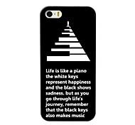 la vita è come un caso duro di disegno del piano per iPhone 5 / 5s