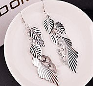 2015 Our Exaggerated Leaves Angel Wings Teardrop Earrings