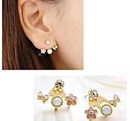 Sweet Bow Flowers Saturn Multi Element Earrings