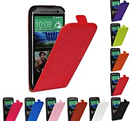 Genuine Crazy Horse PU Leather Slim Light Flip Case Cover for HTC M8 (Assorted Colors)
