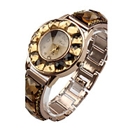 Women's Bracelet Watch Quartz Analog Sparkle Big Diamond Crystal Girl Stainless Steel Band Rose Gold