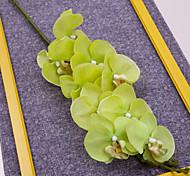 """40"""" Long Fabric Butterfly Ochird Set of 3 Green Color"""