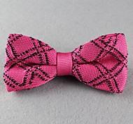 Gravata Borboleta (de Roupa de Malha , Rosa) - Vintage/Pesta/Trabalho/Casual