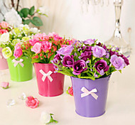 Branch Silk Roses Tabletop Flower Artificial Flowers 15*15*16