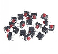 6x6x5mm Micro Switch Button Touch Switch Small Key-Press Switch(20Pcs)
