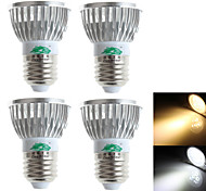 3W E26/E27 LED Spot Lampen S19 3 Dip LED 280 lm Warmes Weiß / Kühles Weiß Dekorativ AC 100-240 V 4 Stück