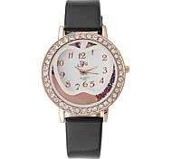 Women's Fashion Rose Gold Apple Pattern Design Circular Dial PU Leather Strap Quartz  Wrist Watches(Assorted Colors)