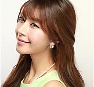 High-grade Zircon Pearl Earrings