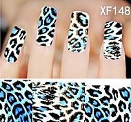 1X10PCS Full-cover Nail Art Stickers Leopard Print Series XF1487