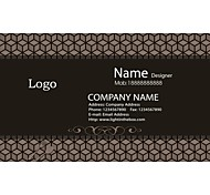Business Cards 200pcs Cubes Pattern 2 Sided Printing of Fine Art Filmed Paper