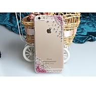 Fashion Diagonal Pink diagonal Case Bowknot Pattern Rhinestone Case for iPhone6