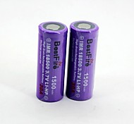 BestFire 18500 3.7V 1500mAh Rechargeable Battery(2Pack)