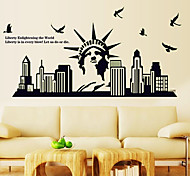 Luminous Environmental Removable Statue of Liberty Tags & Sticker