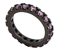 Size 6/7/8/9/10 High Quality Women Pink Sapphire Rings 10KT Black Gold Filled Ring