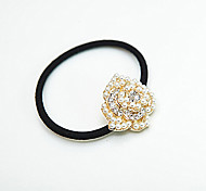 Fashion Pearl Rhinestone Roses Hair Ties