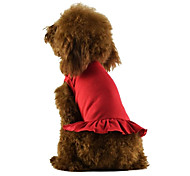 Dog Dress Red / Black / White / Blue / Pink Summer Solid Cosplay