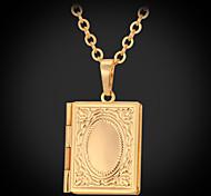 u7® 18k banhado a ouro verdadeiro calor foto medalhão