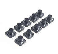 12x12x9.5mm Micro Switch Button Touch Switch Small Key-Press Switch(10Pcs)