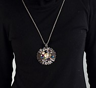 Fashion Style Gunblack Long Pendant Necklace