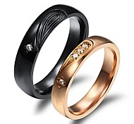 LOVE Luxury Classic Puzzle Love Couples Together Never Part Titanium Steel Ring