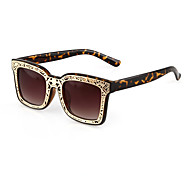 Sunglasses Men / Women / Unisex's Classic / Sports / Fashion Rectangle Light Brown / Leopard / Bright Black / Transparent Sunglasses