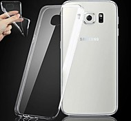 Samsung Samsung Galaxy S6 - Custodie per retro - Trasparente - Cellulari Samsung (Bianco , TPU)