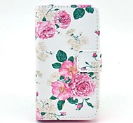 Roses Pattern PU Leather Full Body Case  for HUAWEI Y330