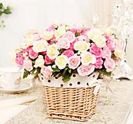 15 Köpfe modernen Stil Seidentuch kleine Rosen multicolor optional Satz 2