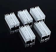 disipador de calor 25 * 15 * 10 mm (con aguja) 5pcs