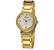 Women's Charm Watch Quartz Analog Sparkle Stainless Steel Classic Casual Dress Wristwatches Gold/Rose Gold/Silver