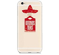 Red character Pattern Transparent Back Case for iPhone 6