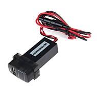 Car Modification Parts 2.1A USB Interface Voltmeter for MITSUBTSHI(Black)