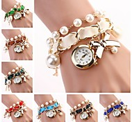 Women Hang Bow Bracelet Watch New Pearl Series  Watches(Assorted Colors) C&D-118 Cool Watches Unique Watches Fashion Watch