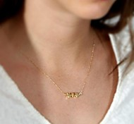 European Style Contracted Stars Pendant Necklace