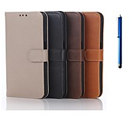5.1 Inch Luxury Pattern Wallet Leather Case with Pen for Samsung GALAXY S6