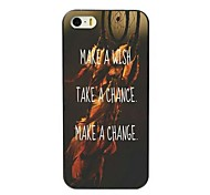 Wish Chance and Change Design Hard Case for iPhone 4/4S