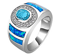 Size 6/7/8/9/10 High Quality Women Aquamarine Sapphire Rings 10KT White Gold Filled Ring