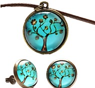 Fashion Peace Tree Shape(Includes Necklace&Earrings)Jewelry Set