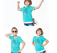 Outdoors Travel Casual Summer Kid's Polyesyer Multi Colors Quick-drying Wicking T-shirts