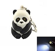 Panda Style Key Ring w/ White Light Toys